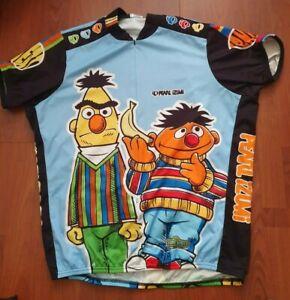 Rare 2005 Pearl Izumi Mens Eric and Ernie Sesame Street Cycling Jersey - XXL