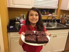 8 Gabi's Big Ole Brownies With Chocolate Chips. Equal To 2 Boxes Of Brownie Mix