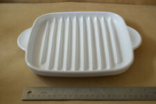 White Corning Ware MR-3 RACK Microwave Bacon Plate Tray #2165