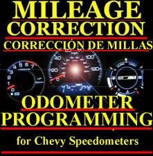 Chevrolet Speedometer Instrument Gauge Cluster Mileage Odometer PROGRAMMING