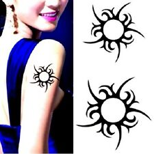 Temporary Tribal Fake TATTOO Waterproof Sun Totem Arm Ankle Neck Leg Body Art UK