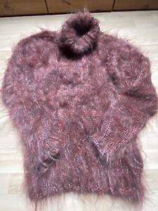Sweater Pullover Mohair Langhaarmohair 92% Rollkragen