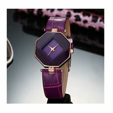 Smart Diamond Shape Watch Purple Jewel Present Gift Birthday Quality UK Warranty