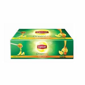 Green Tea Honey And Lemon Flavour From Lipton - 100 Tea Bags, Weight 150 Grams
