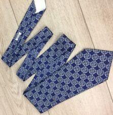 100% Authentic Hermes Silk Tie 538 IA Geometrical LINK CHAIN Vintage WIDE