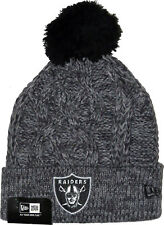 New Era Oakland Raiders Grey Knitted Bobble Hat Beanie NFL American  Football Fan 0842dc15ca6