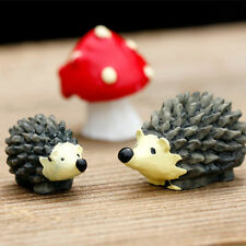 Miniature Resin Hedgehog Bonsai Figurine Garden Dollhouse Decor Ornament DIY HF