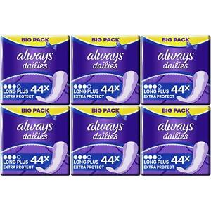 Always Dailies Panty Liners Long Plus Fresh Protect Odour Neutralise - 264 Pack