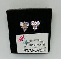 Orecchini a Cerchio Oro Giallo Pl con Cristalli Swarovski Originali SWOROG19-008