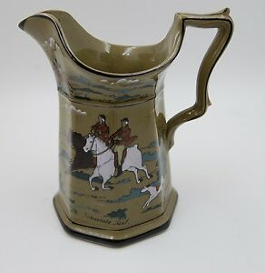 ANTIQUE DELDARE WARE PITCHER BY BUFFALO POTTERY ...SIGNED