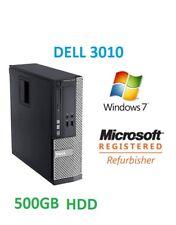 Cheap Fast Joblot 10 x Dell Optiplex 3010 SFF 4GB 500GB HDD Window 7 PC Computer