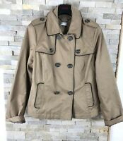 M&S Autograph Weekend Ladies Size 14 Tan Double Breasted Coat Jacket