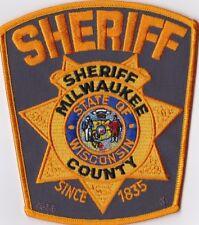 Milwaukee County Sheriff brown backround WIS Wisconsin Patch NEW!!