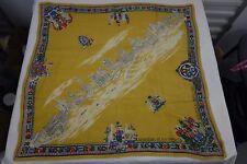 Vintage souvenir novelty print scarf Australian Queen Elizabeth 1953  lot # 44