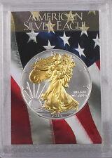 2015 Gilded American Silver Eagle .999 Bullion 1oz Ounce  Free Shipping 24k Gold