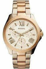 Fossil Ladies Cecile Watch Rose Gold Case & Two Tone Bracelet AM4634