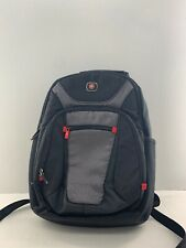 New Wenger by SwissGear Grey on Black Multi-Compartment Backpack