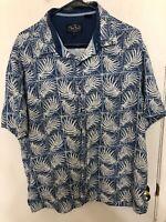 Nat Nast Hawaiian Shirt Button Up XL Silk Cotton Blend
