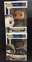 Lot Of 2 Funko Pop! Disney Tomorrowland  - Young Frank Walker & Frank Walker