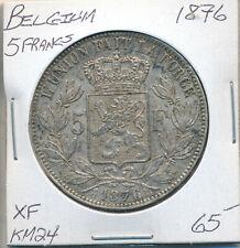 BELGIUM 5 FRANCS 1876 KM 24 - XF