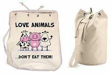AMI gli animali non mangiarli Borsone Vegetariano Vegan College Zaino da palestra