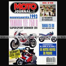 MOTO JOURNAL N°1053 SIDE-CAR BERINGER ORION YAMAHA YZF 750 R & SP BOL D'OR 1992