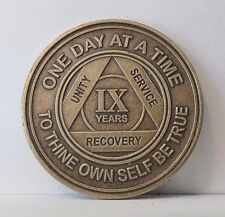 Alcoholic 9 Year Recovery -One Day Chip-Medallion Coin Medal Token  AA Anonymous