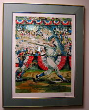 "FRAMED LIMITED EDITION SIGNED SERIGRAPH ""BASEBALL"" BY WAYLAND MOORE"