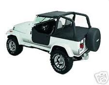 Jeep Wrangler Custom Fit 92 93 94 95 Bikini Soft Top BLACK 1992 1993 1994 1995