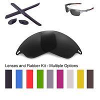 Walleva Lenses and Rubber Kit for Oakley Fast Jacket - Multiple Options