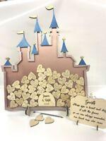 Fairy Castle 100 Cinderella Metallic Pink Rose Gold Wedding drop box guest book