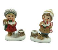 Vintage Napco Napcoware Figurines Girls Christmas Caroling Candle Holders JAPAN