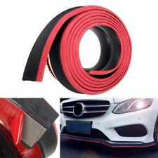 Red 2.5M Cars Front Bumper Lip Splitter Body Spoiler Chin Skirt Protector