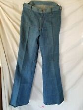 Vtg 70's Retro Hippie Disco Brittania Denim Bell Bottom Jeans