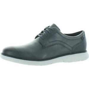Rockport Mens Garett Plain Toe Leather Plain Toe Lace Up Oxfords Shoes BHFO 3224