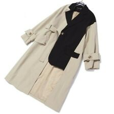 Designer Women Asymmetric Windbreaker Spring Casual British Patchwork Overcoat L