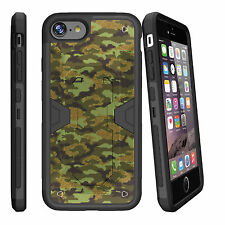 "For Apple iPhone 7 (4.7"") Slim Dual Layer Kickstand Clip Case + Unique Designs"