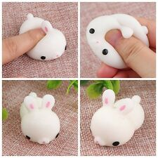Cute Mochi Bunny Rabbit Squishy Squeeze Healing Abreact Stress Reliever Mini Toy