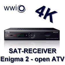 WWIO Satellitenreceiver BRE2ZE 4K (4K - openATV - SAT<IP, 2 x USB, HDMI-Kabel)