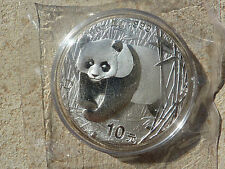 CHINA 10 Yuan Panda  1 oz Silber 2001 D Double Sealed