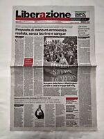 LIBERAZIONE 11 LUGLIO 2006 LA FESTA MONDIALI ITALIA CAMPIONE COPPA DEL MONDO