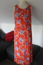 size 8 orange crinkle dress from dorothy perkins brand new