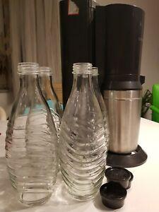 SodaStream 121651249 Crystal 2.0 Wassersprudler Titan - plus 4 Trinkflaschen