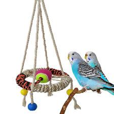 Haustier Vogel  Käfig Hänge Schaukel Spielzeug  Baumwolle Seil Vogelschaukel Neu