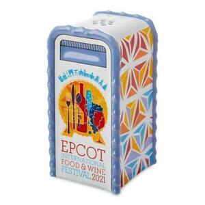 Disney Parks Salt / Pepper Shaker - Epcot Food And Wine Festival 2021 Logo