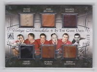 2015 LEAF...ITG USED...VINTAGE MEMORABILIA SIX...8/9...RICHARD/PLANTE/BELIVEAU