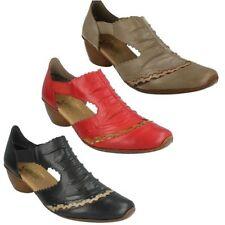 Leather Slip On Block Heel Sandals & Flip Flops for Women