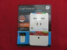 GE JASCO 2 USB + 2 AC CHARGING STATION SURGE PROTECTOR 450 JOULES 27093 NEW!!