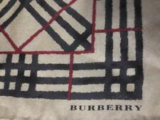 "NEW ! BURBERRY London Classic NOVA CHECK Plaid 100% SILK 18"" Square SCARF ITALY"