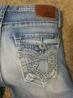 WOMENS BUCKLE BIG STAR CAPRI JEANS SIZE 28 28X27 RIKKI LOW RISE FIT FLAP POCKETS